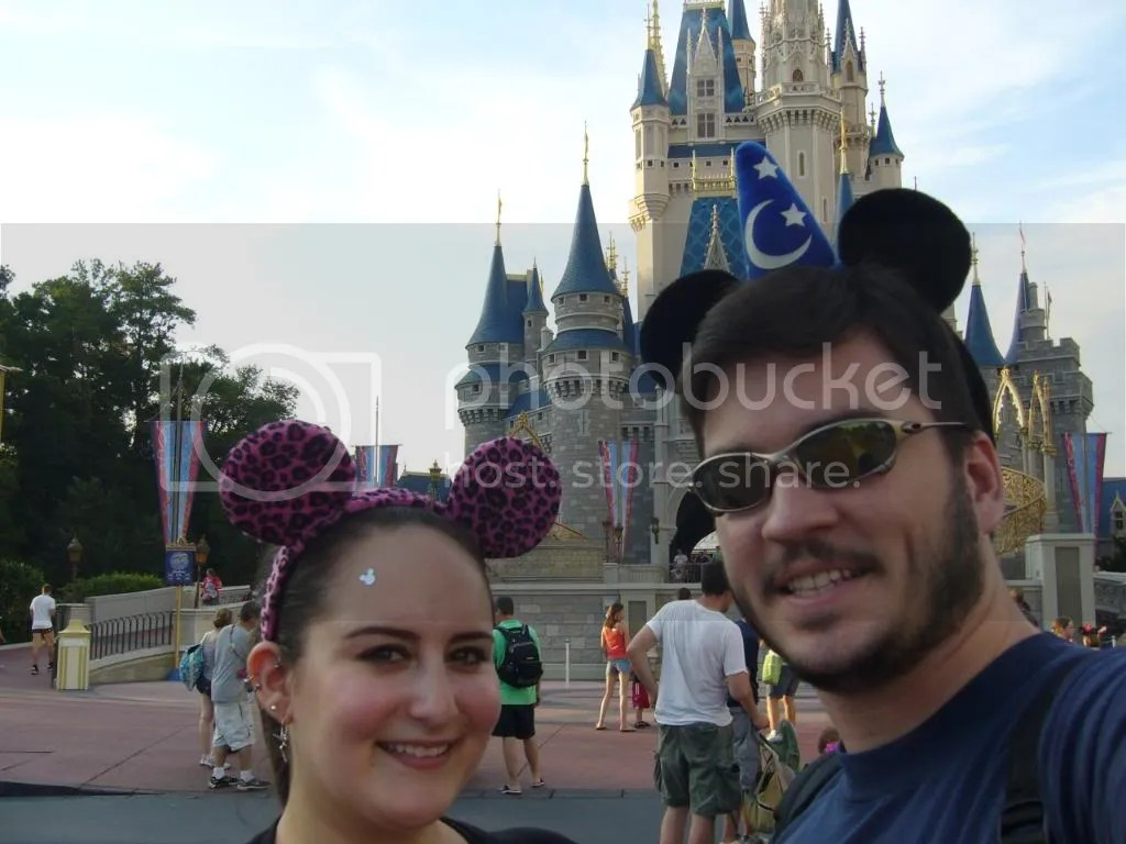 Just us in front of the castle, more magic on my head