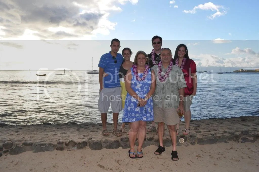 Family at the Old Lahaina Luau