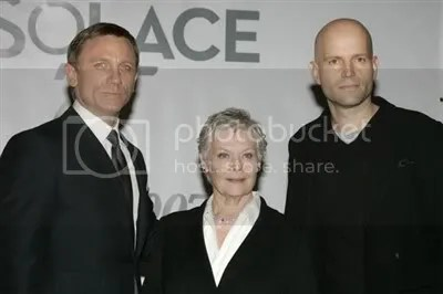 Daniel Craig, Judi Dench and Marc Forster - James Bond Quantum of Solace