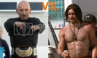 Jake Gyllenhaal vs Ben Kingsley in Prince of Persia the movie.