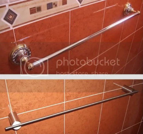 Old and new towel rails