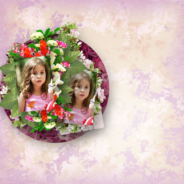 can you paint me some flowers kit by simplette scrap and design page lady rak sarayane