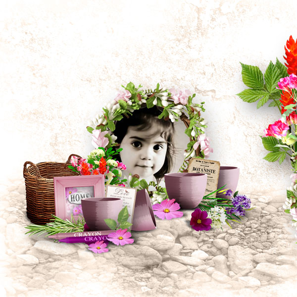 can you paint me some flowers kit by simplette scrap and design page simplette rak ingrid valkyrie rock n'raul