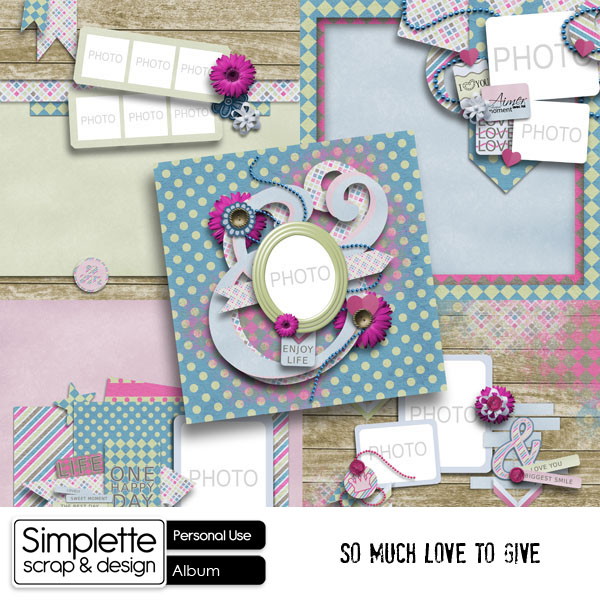 so much love to give kit simplette scrap and design some words to say
