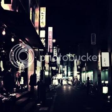 The night image of Shimokitazawa