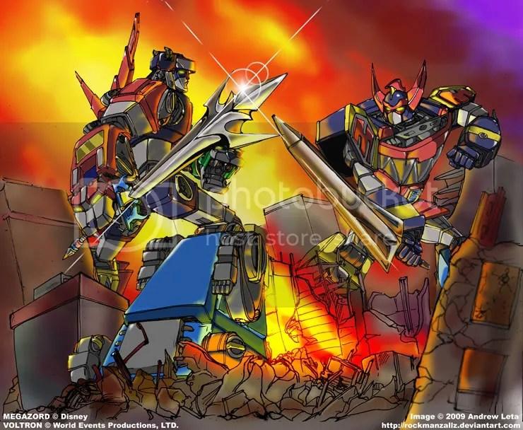 Super_Sentai_Showdown_by_rockmanzal.jpg Voltron vs Megazord