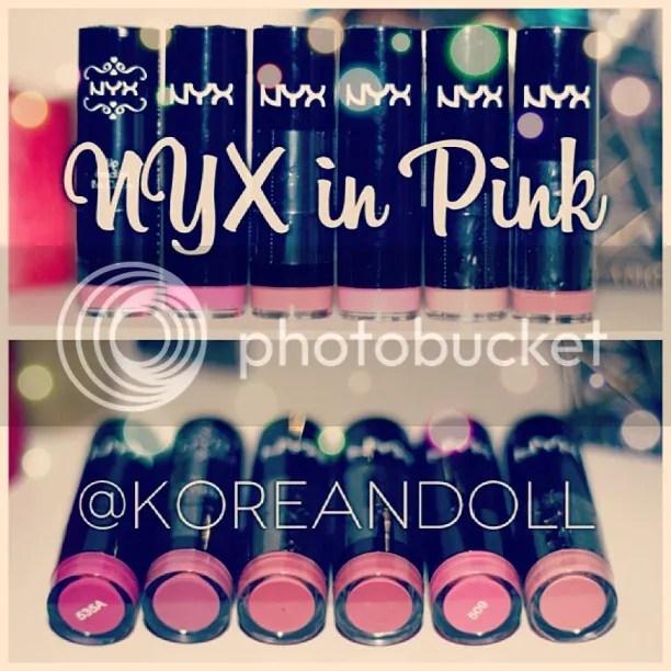 NYX Pink Lipstick