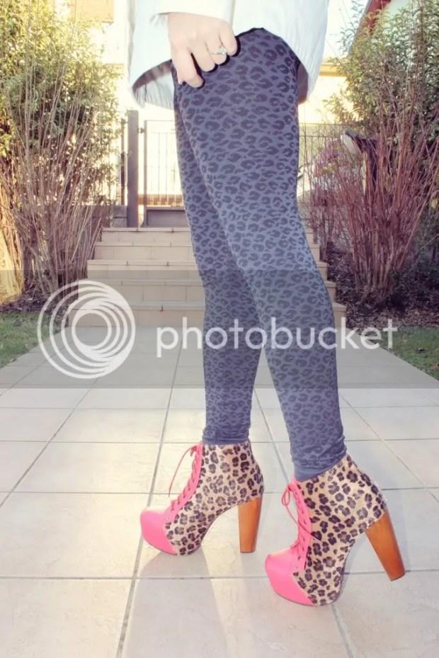 Jeffrey Campbell Leopard Lita Platform Boots