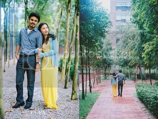 gambar post wedding yusry lisa