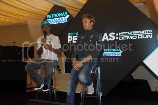 petronas motosports demo run