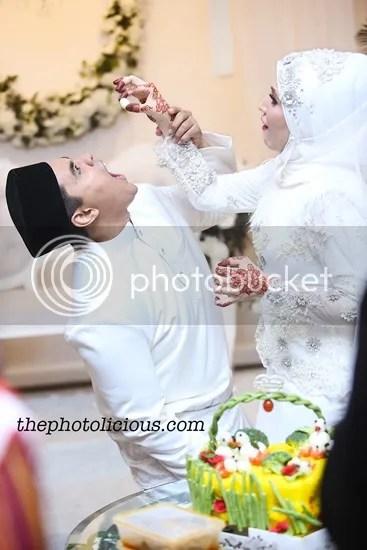gambar kahwin chef riz dan shikin maembong