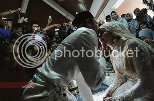 gambar kahwin ayu raudhah zaquan adha