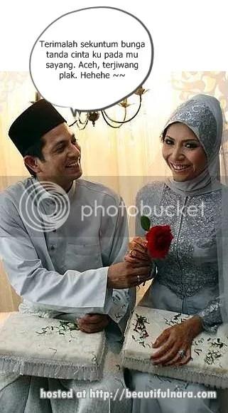 gambar kahwin aida aris
