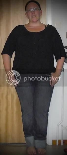 Topp KappAhl strl L, jeans Lindex strl 46