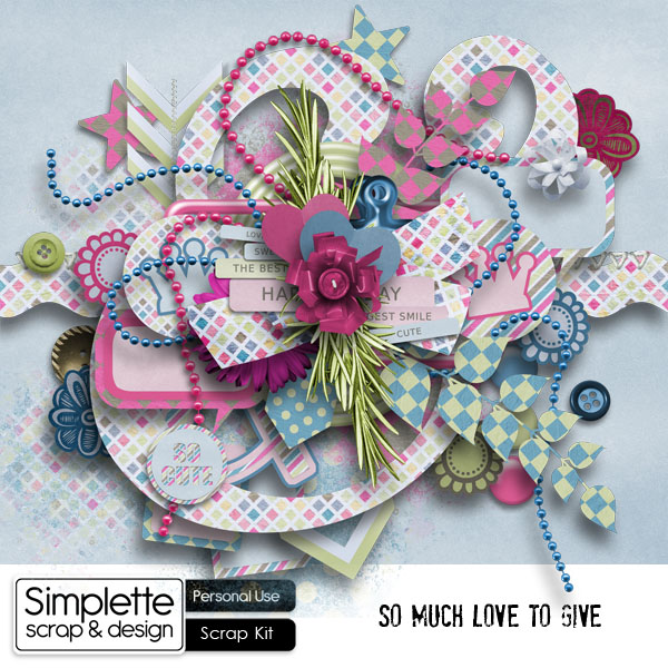 so much love to give kit simplette scrap and design