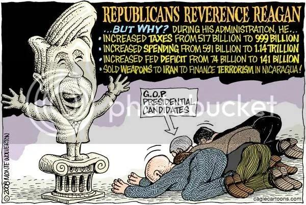 Political Cartoon on Ronald Reagan
