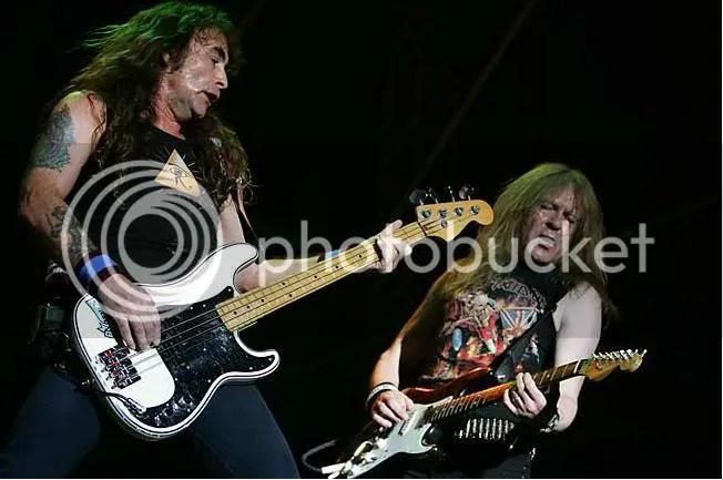 Steve Harris y Janick Gers