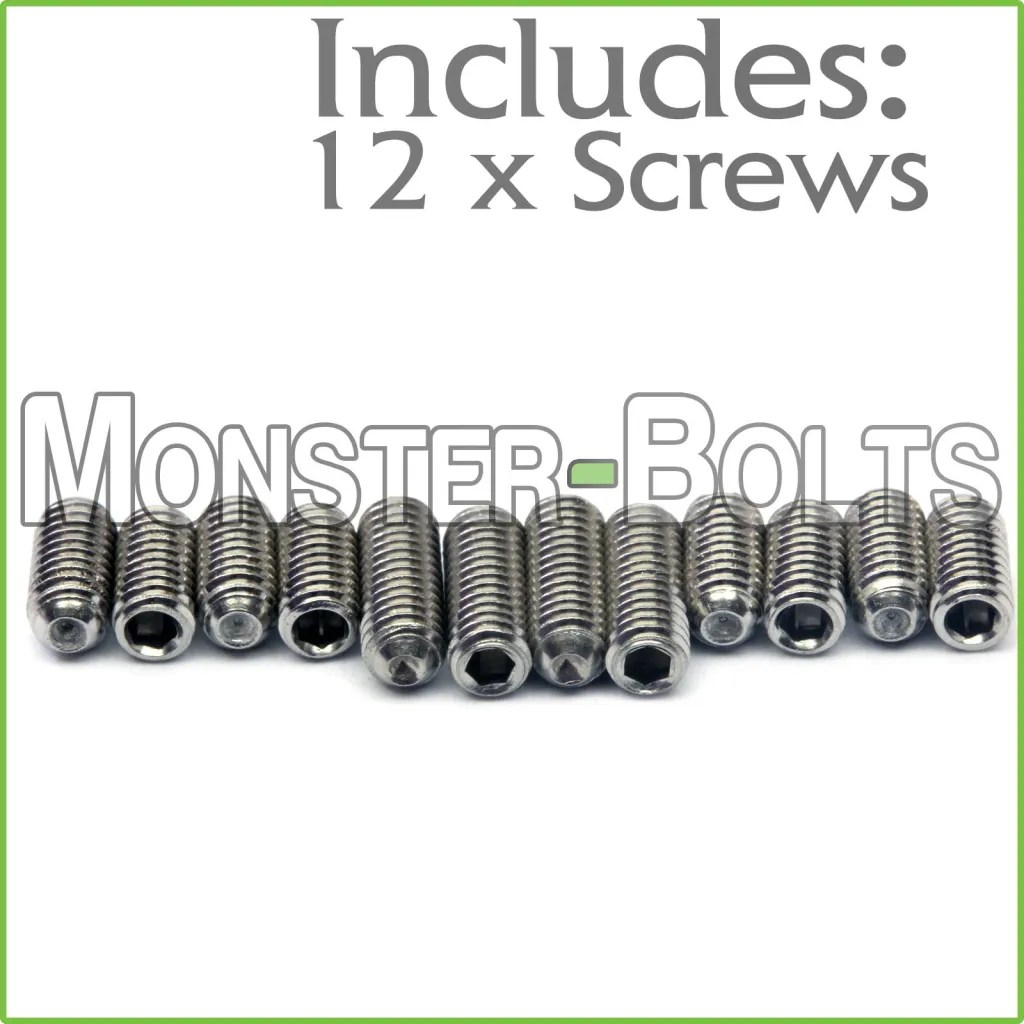 M3 X 6mm Amp 8mm Stainless Steel Saddle Height Screws For
