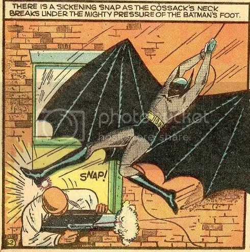 Image result for golden age comic book batman killing
