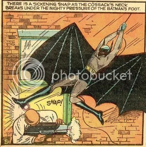 Image result for golden age comic book batman killing