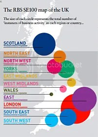 The RBS SE100 Index map of the UK