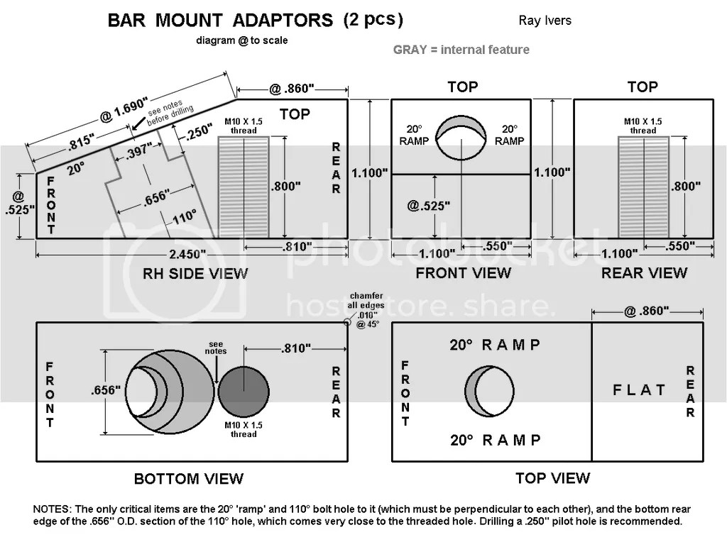 Handlebar Riser Adaptors For All Models W Removable Risers