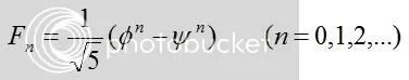 Binets formula, a closed form for Fibonacci numbers