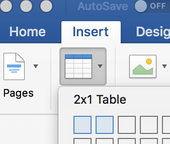 ms word create table - fix mac outlook signature issue