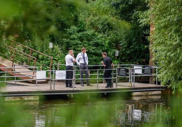 Police at Bathampton Mill