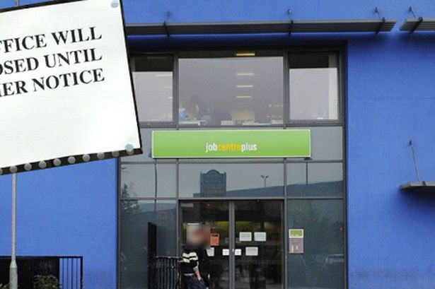 Image result for job centre closed