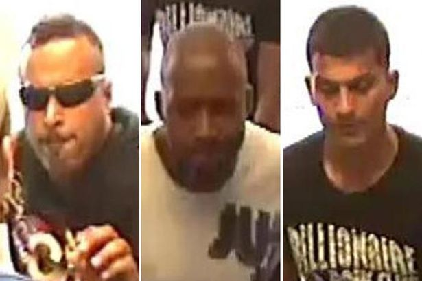 The three men police want to question over a Wolverhampton shop attack