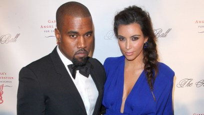 Miss Mode: Kim Kardashian and Kanye West<br /> attend the Angel Ball 2012 at Cirpiani Wall Street<br /> New York City, USA - 22.10.12<br /> Mandatory Credit: PNP/ WENN.com