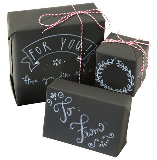 Chalkboard wrapping paper from Talking Tables