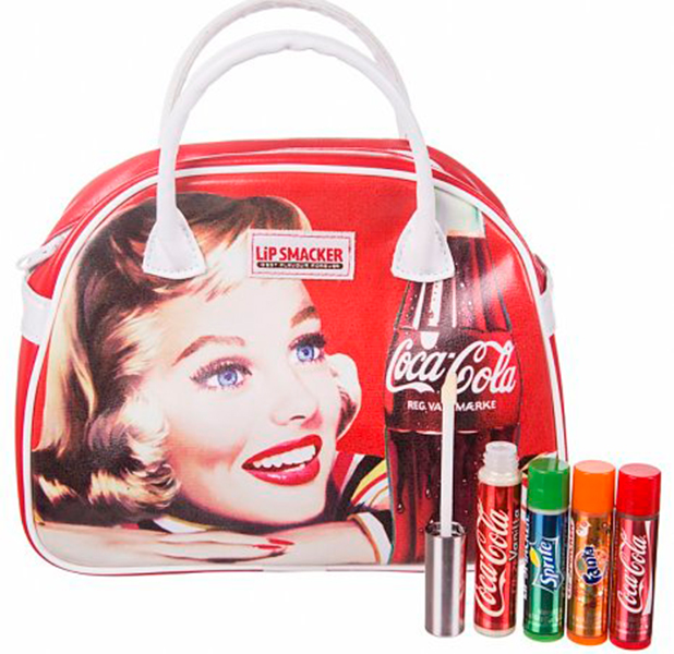 Coca-Cola vintage wash bag and lip balms