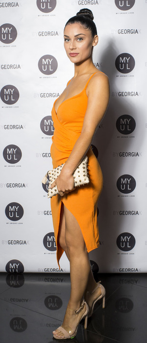 Love Island's Cally Jane Beech at the By Georgia K launch party, London, 20 September 2016