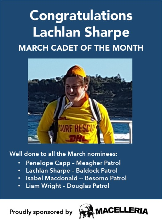 March Cadet of the Month Lachlan Sharpe