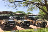 Kafunta vehicles waiting at airport