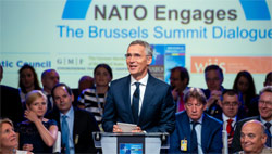 NATO Secretary General previews Brussels Summit at symposium