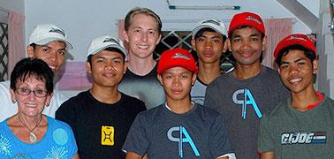 Riviera designer uses his skills to help boys in Cambodia