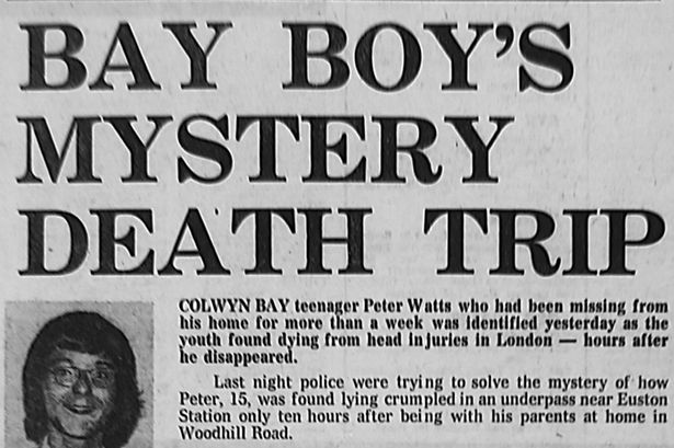 The Daily Post reports on Peter Watts' death in 1976