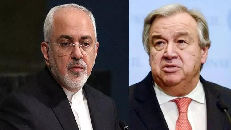 İran Dışişleri Bakanı Zarif ile BM Umum Sekreteri Guterres telefonda görüştü 1