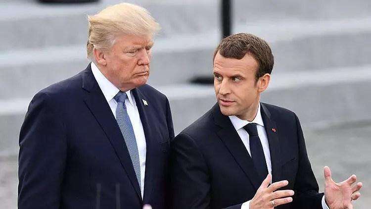 Trump ve Macron telefonda Kovid-19'u görüştü 1