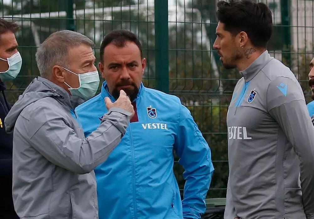 Trabzonspor'un antrenmanını Ahmet Ağaoğlu da izledi 1