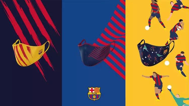Barcelona logolu maske satışına başladı 1