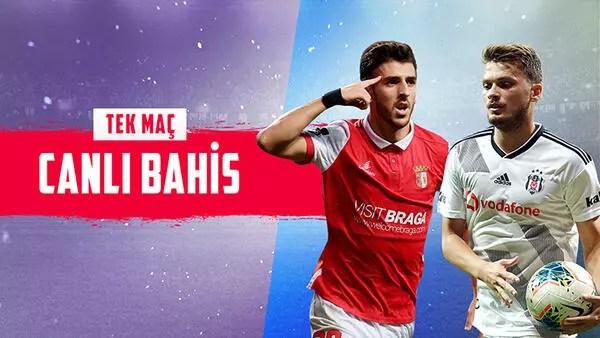 Beşiktaş 6 eksikle Portekiz'de! iddaa'da Braga galibiyetine verilen oran...