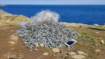 Dalgıçlar, denizden 51 kilo olta kurşunu çıkardı