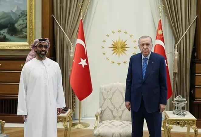 Son dakika haberi: Cumhurbaşkanı Erdoğan, BAE Abu Dabi Veliaht Prensi Nahyan ile görüştü