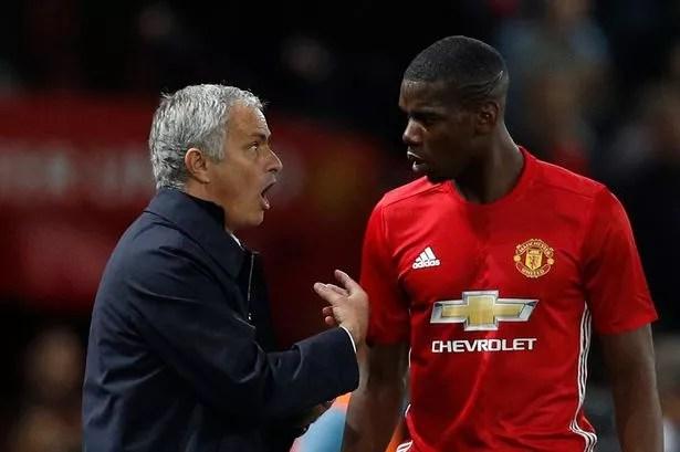 Image result for Jose Mourinho and Paul pogba