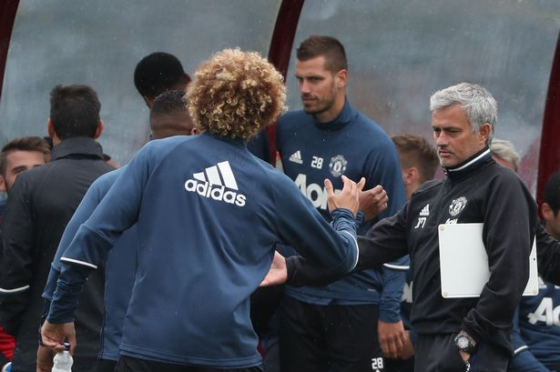 Image result for Fellaini insists Man Utd squad are behind Mourinho
