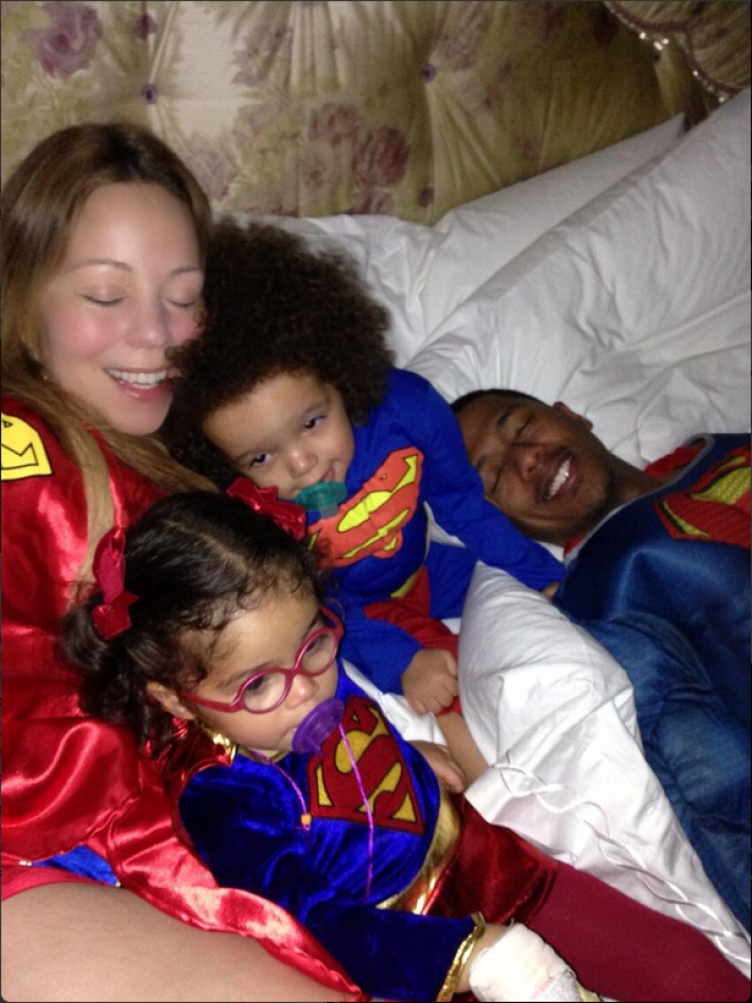 Mariah Carey and twins at Halloween with husband Nick Cannon